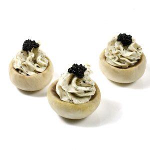 Baked Mushroom with Truffle Cream Cheese
